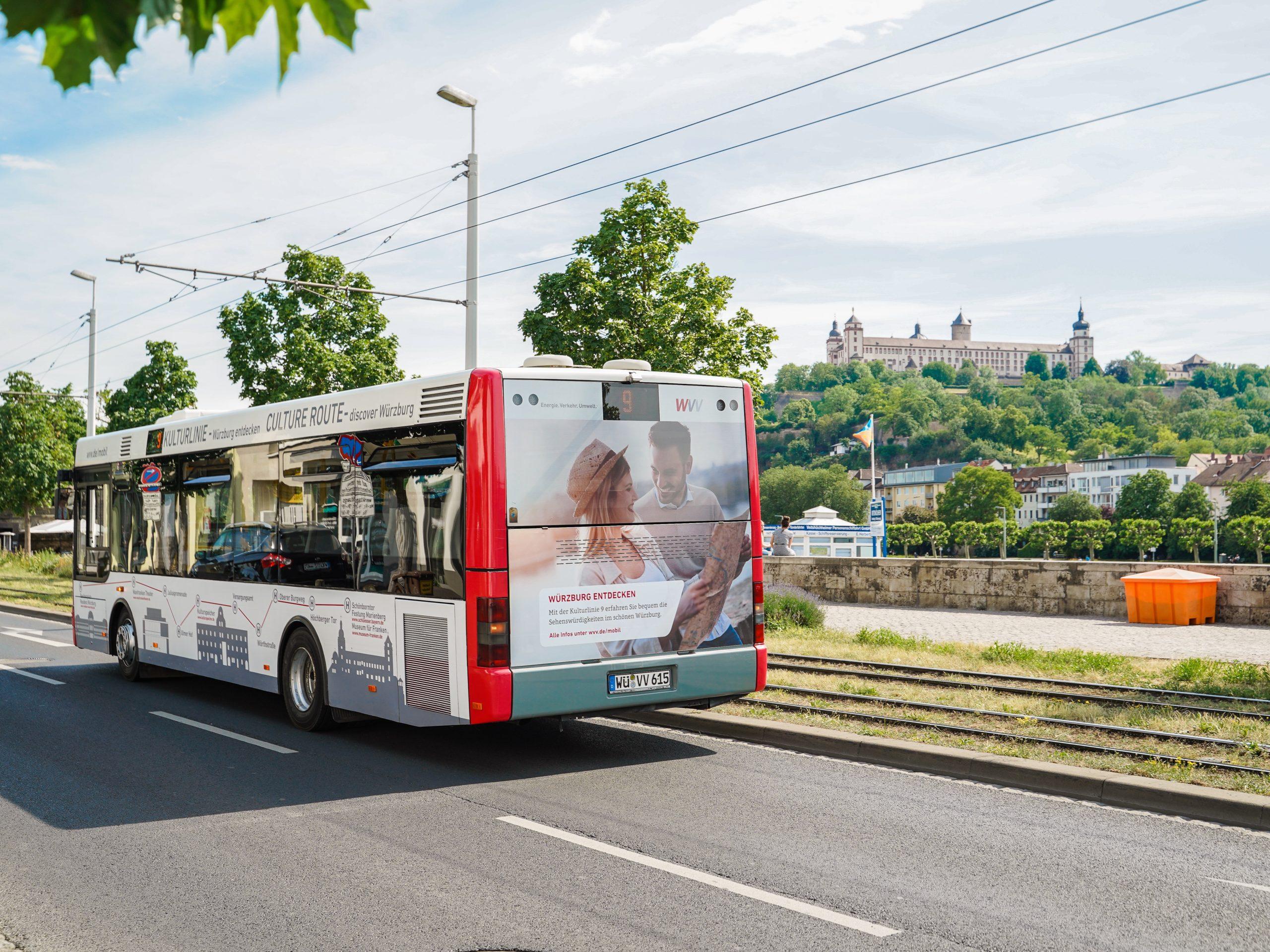 Einsteigen, losfahren & Würzburgs bunte Vielfalt entdecken! Foto: WVV