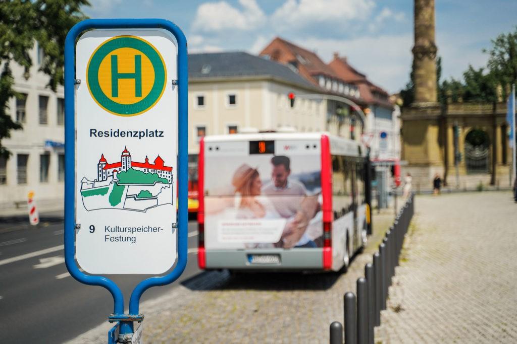 Die Kulturlinie fährt alle 30 Minuten zu Würzburgs größten Sehenswürdigkeiten. Foto: WVV