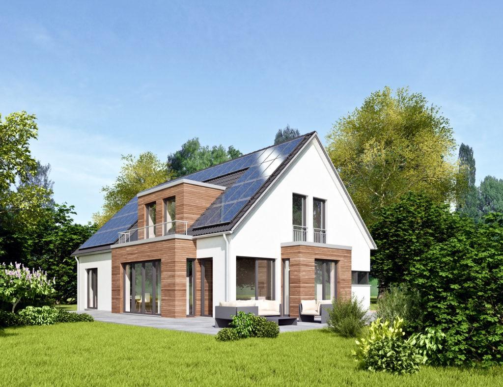 Mit Solarzellen auf dem Dach produziert man eigenen Ökostrom. Foto: AdobeStock – ©KB3