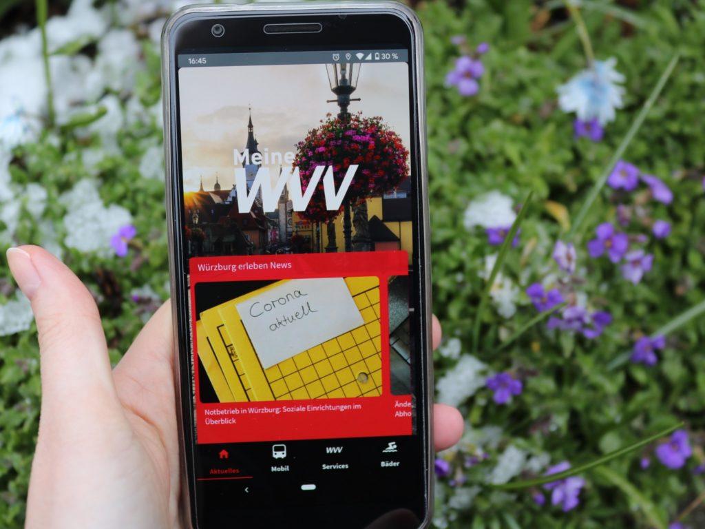Die Meine WVV-App hat einiges zu bieten! Foto: Papay Landois GmbH