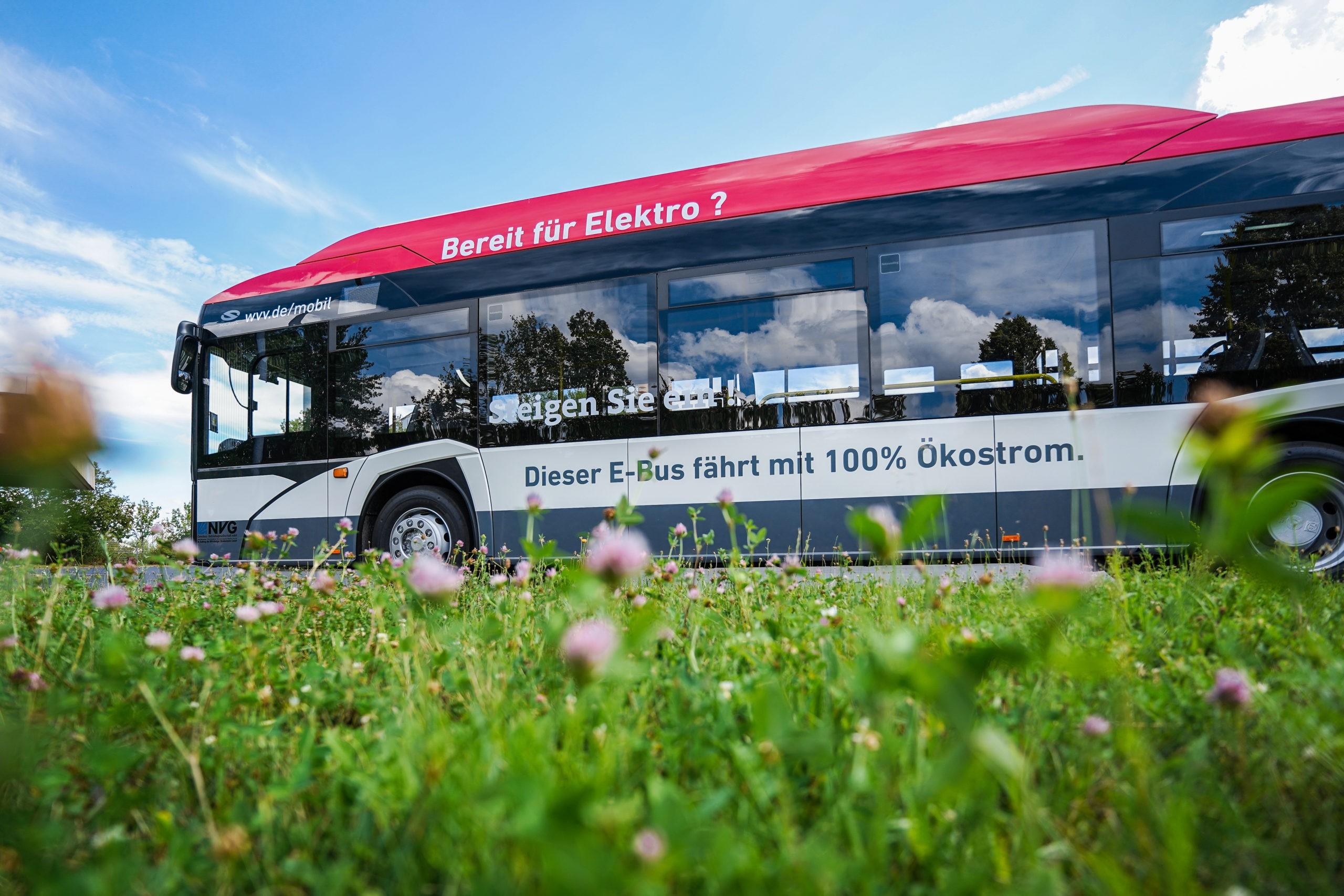 Seit dem 13. Juli 2020 befahren zwei Elektro-Busse die Straßen Würzburgs! Foto: WVV