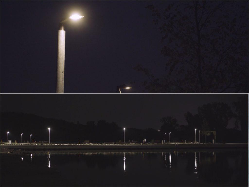 Eindrücke von der Mainlände – effizient beleuchtet dank Lauflichtern. Fotos: WVV