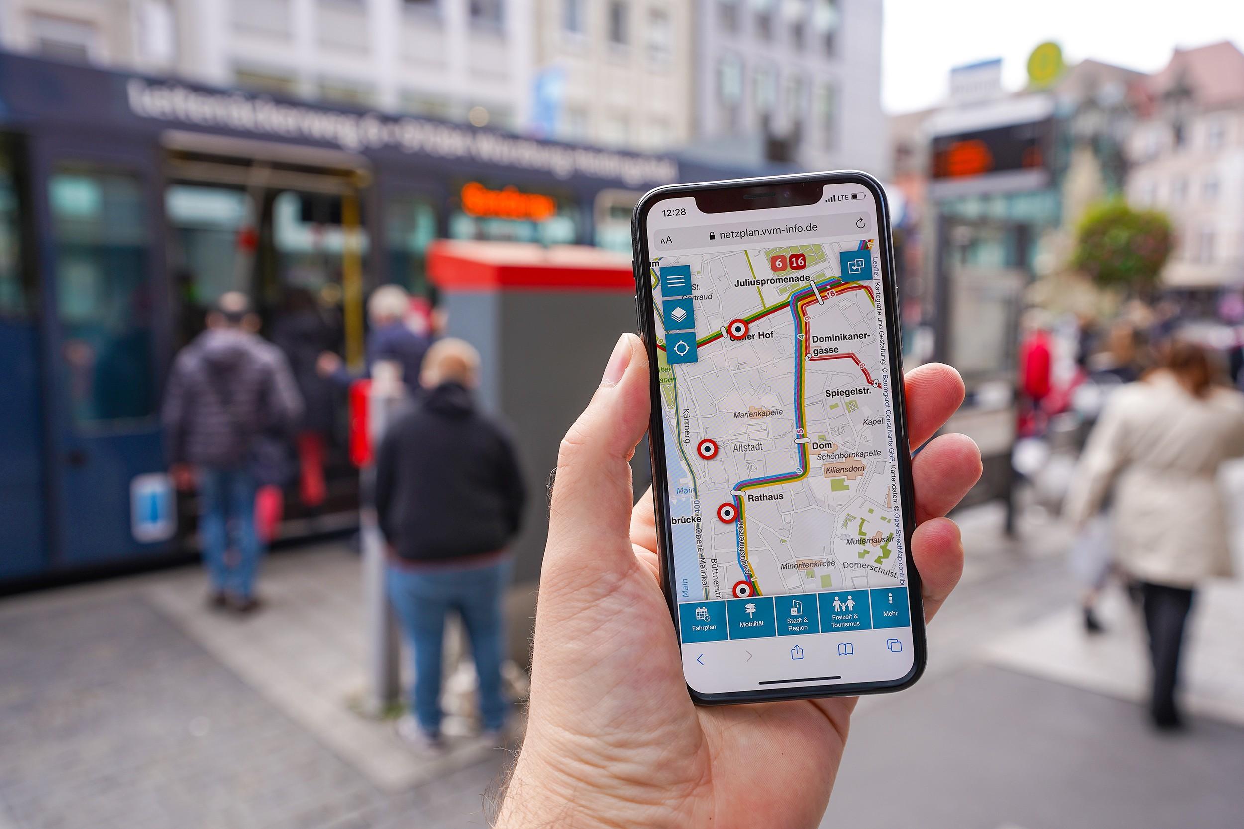 Interaktiver Liniennetzplan Würzburg