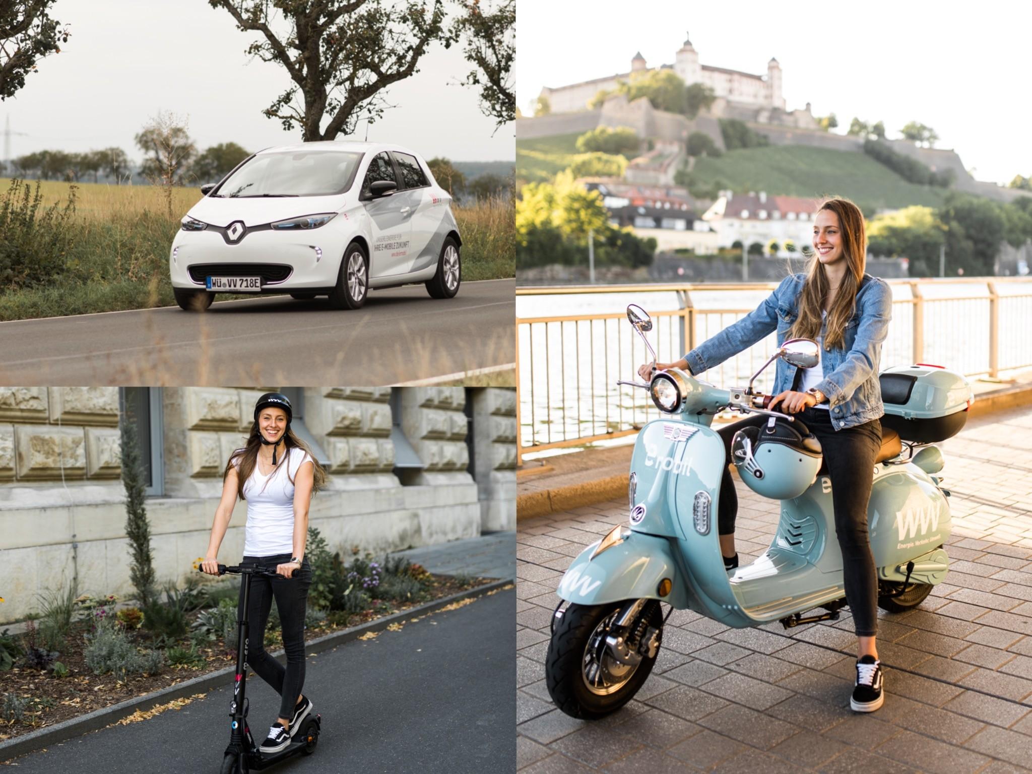 E-Mobilität in Würzburg. Fotos: Laura Schraudner